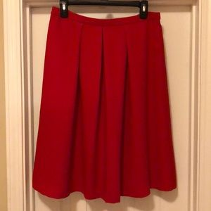 NWT The Limited Red High-Waisted Skirt